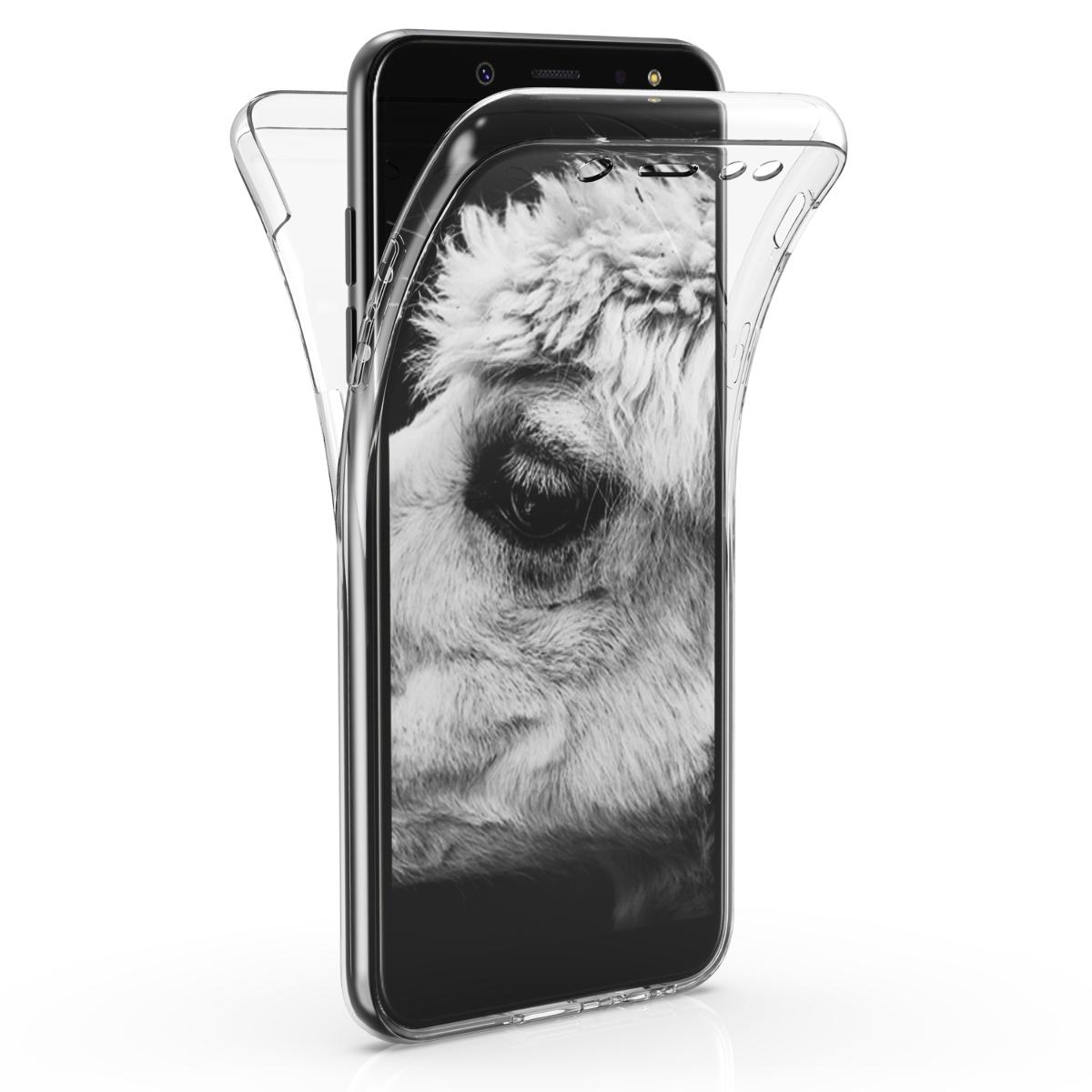Kvalitní silikonové TPU pouzdro pro Samsung A6 (2018) - průhledné