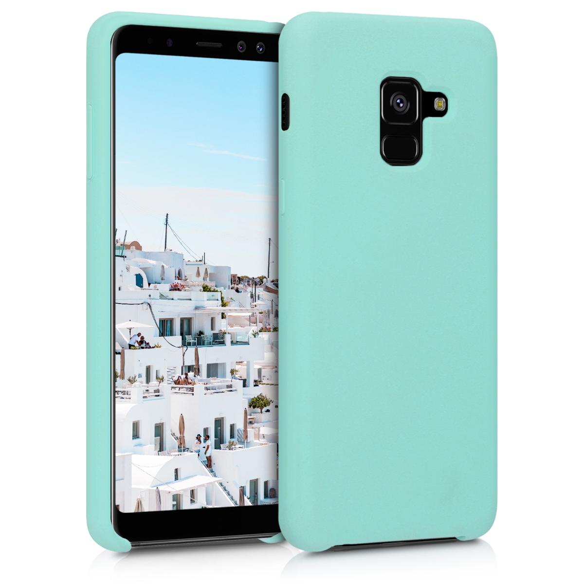 Kvalitní silikonové TPU pouzdro pro Samsung A8 (2018) - mint zelené matné