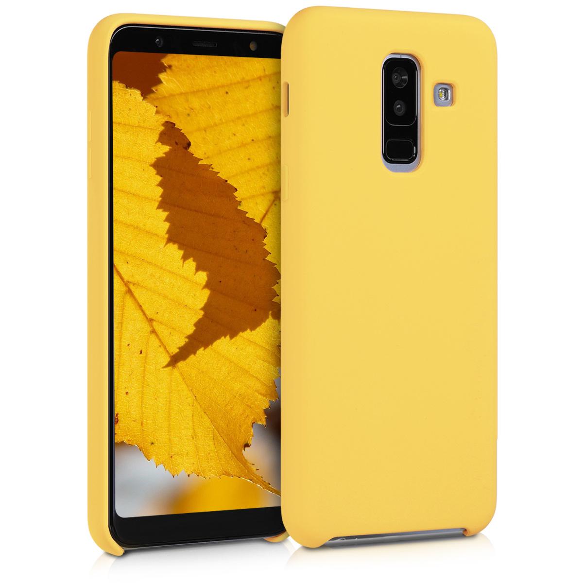 Kvalitní silikonové TPU pouzdro pro Samsung A6+|A6 Plus (2018) - žluté matné