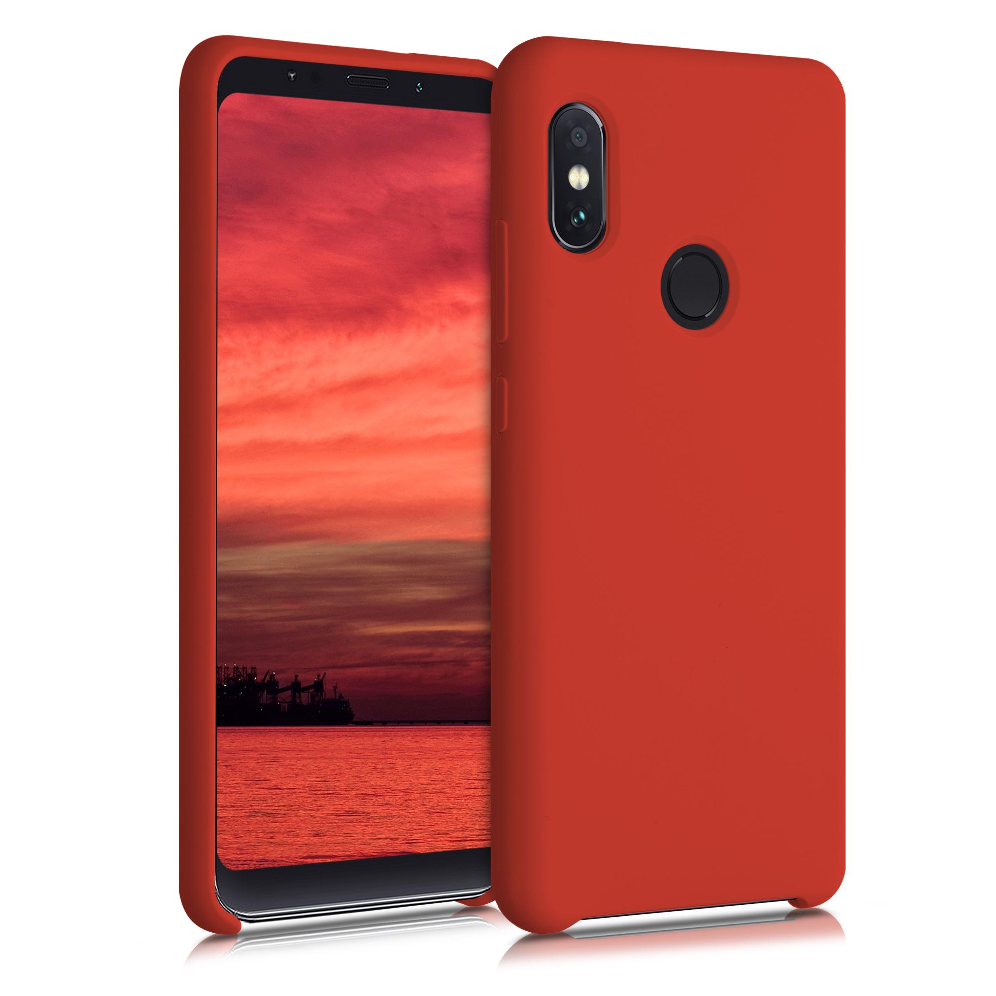 Kvalitní silikonové TPU pouzdro | obal pro Xiaomi Redmi Note 5 (Global Vers - červený matný