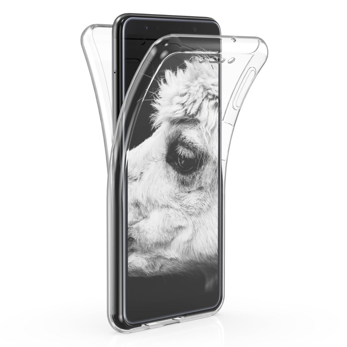 Kvalitní silikonové TPU pouzdro pro Samsung A7 (2018) - průhledné