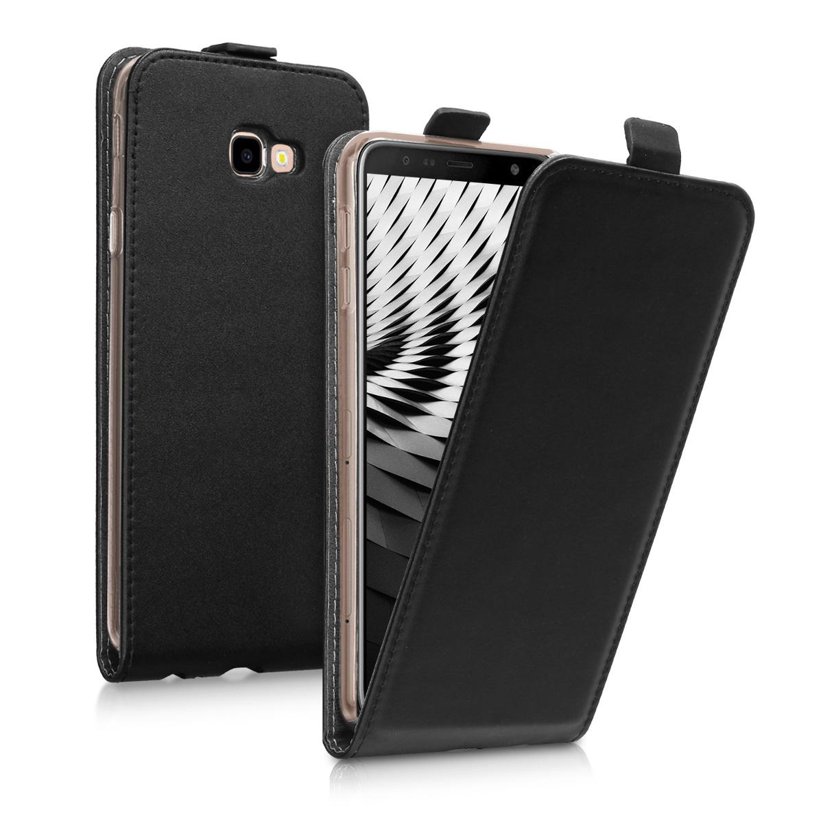 Kožené pouzdro pro Samsung J4+ | J4 Plus DUOS - černé