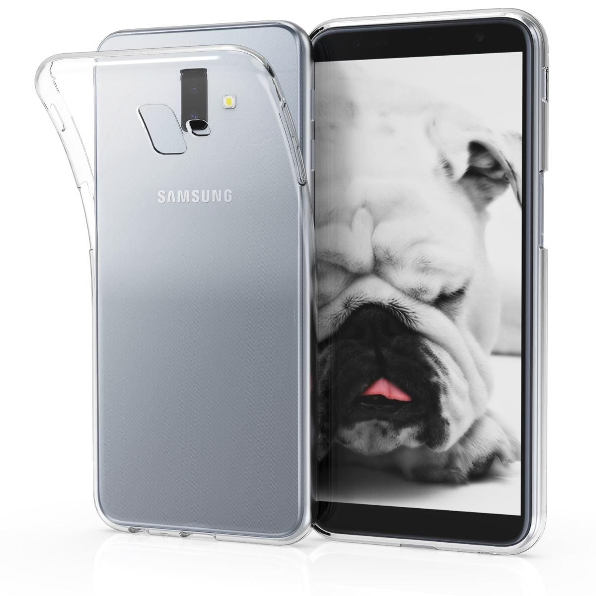 Kvalitní silikonové TPU pouzdro pro Samsung J6+ | J6 Plus DUOS - průhledné