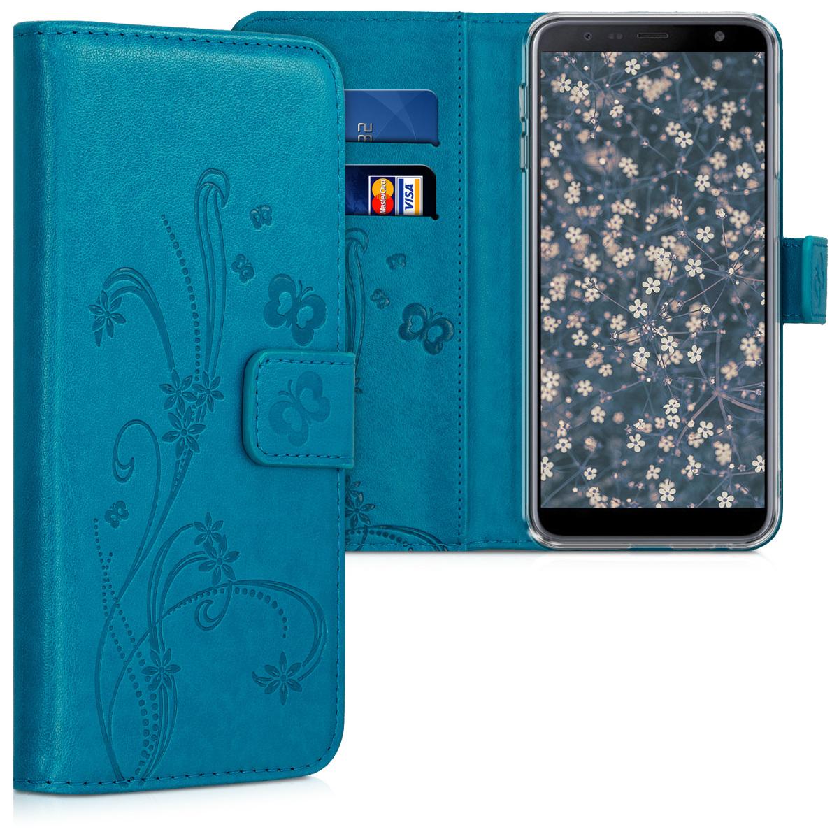 Kožené pouzdro pro Samsung J6+ | J6 Plus DUOS - Motýl úponka Benzín