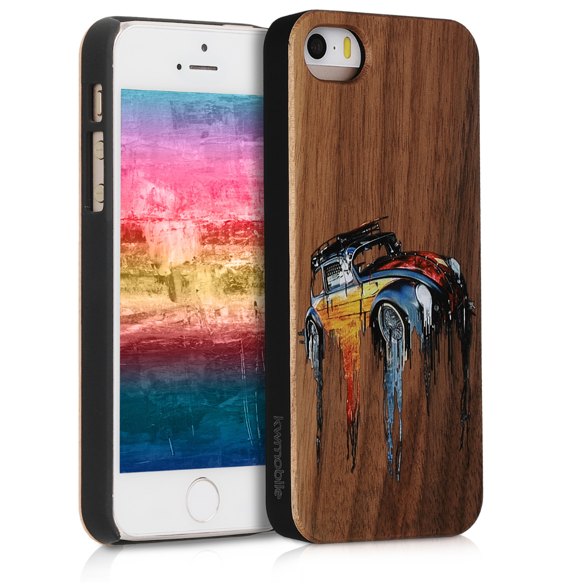 Wooden Case for Apple iPhone SE 1.Gen 2016 5 5S with ...
