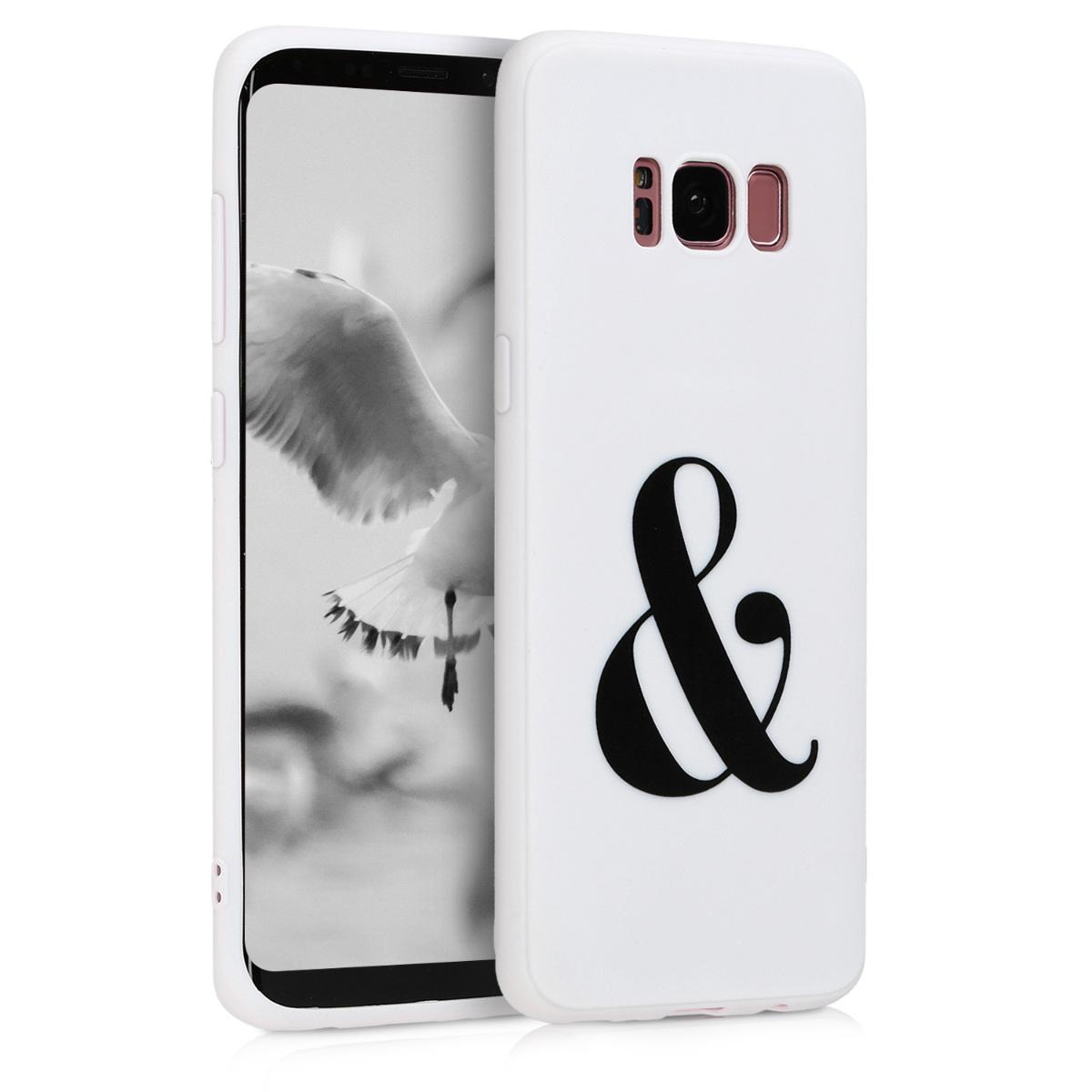 Kvalitní silikonové TPU pouzdro pro Samsung S8 - Ampersand černé / bílé