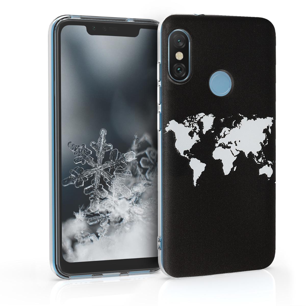 Kvalitní silikonové TPU pouzdro | obal pro Xiaomi Redmi 6 Pro | Mi A2 Lite - Travel Outline bílý / černý