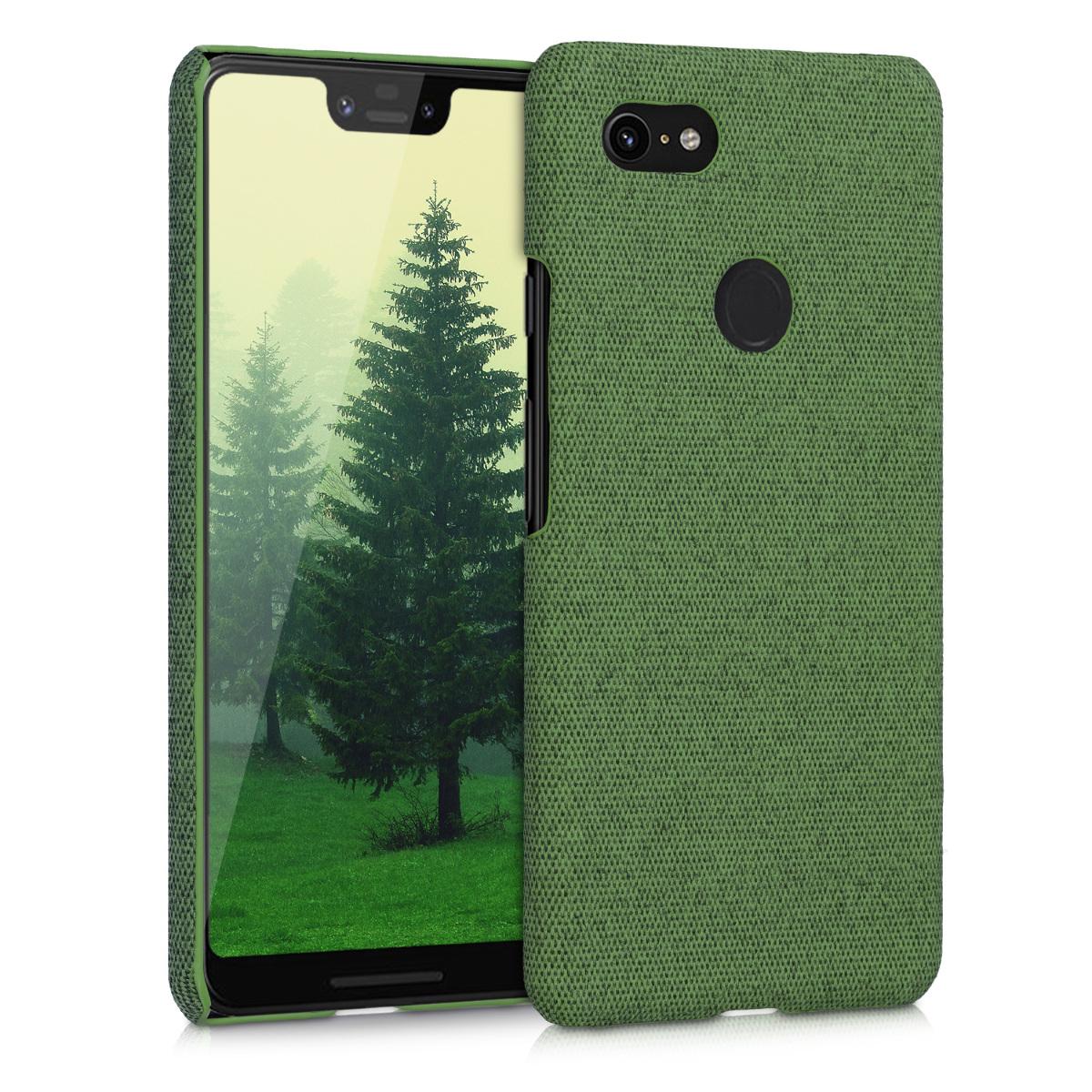 Textilní látkové pouzdro | obal pro Google Pixel 3 XL - Zelená