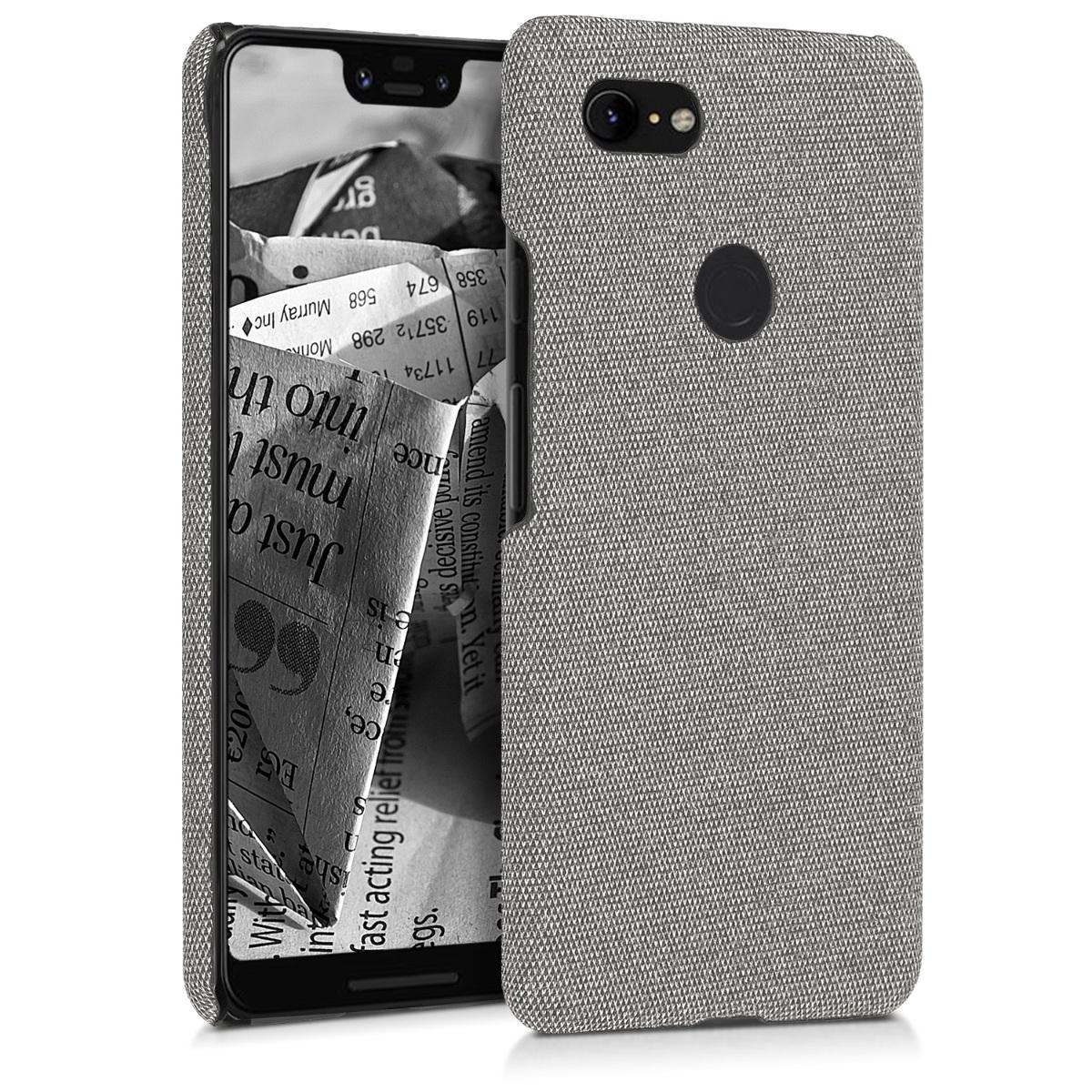 Textilní látkové pouzdro | obal pro Google Pixel 3 XL - Světle šedá