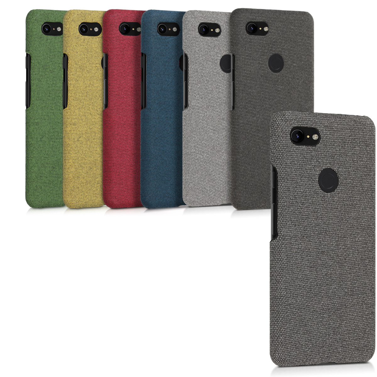 the latest dd781 e6dc1 Details about Protective Canvas Case Back Cover for Google Pixel 3 XL