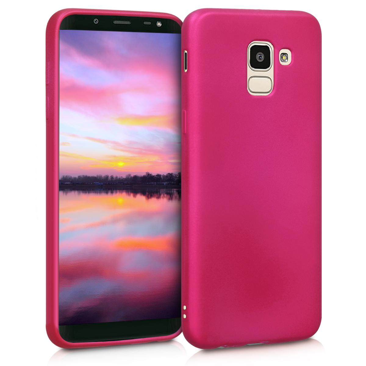 Kvalitní silikonové TPU pouzdro pro Samsung J6 - metalické růžové