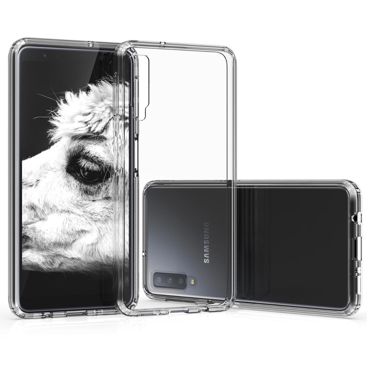Kvalitní plastové pouzdro pro Samsung A7 (2018) - průhledné