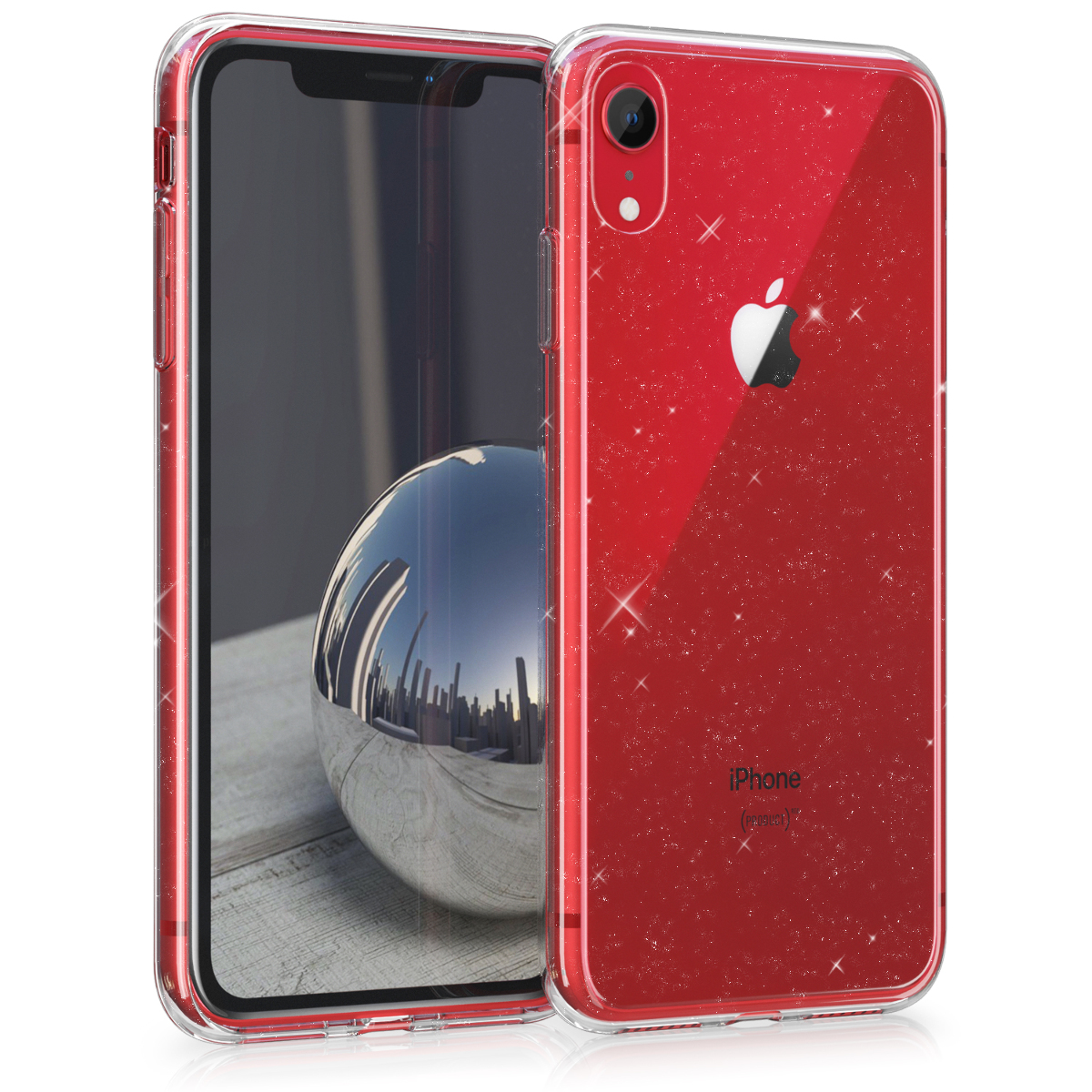 Kvalitní silikonové TPU pouzdro pro Apple iPhone XR - Glitter Uniform Transparent