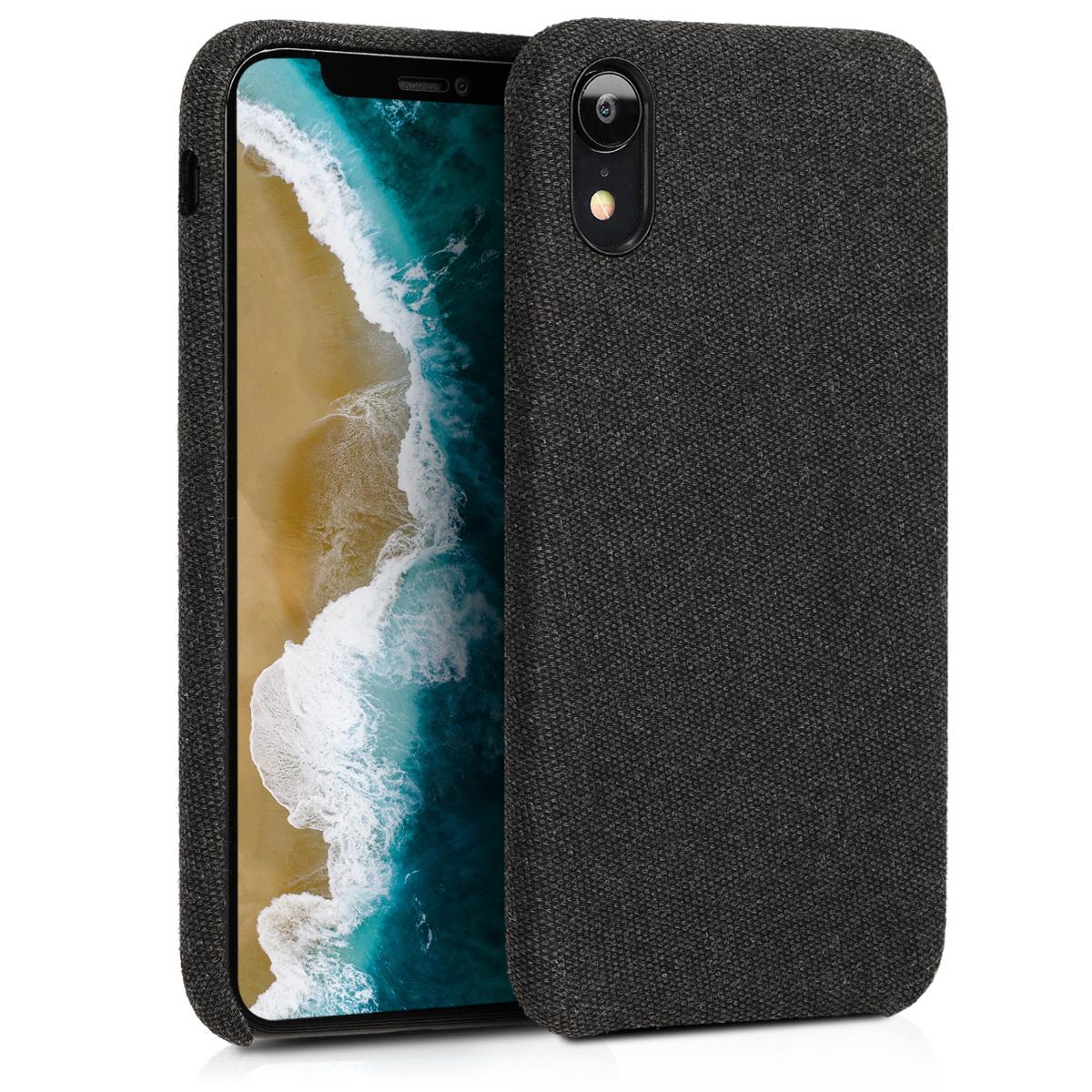 Černé textilní látkové pouzdro | obal pro Apple iPhone XR