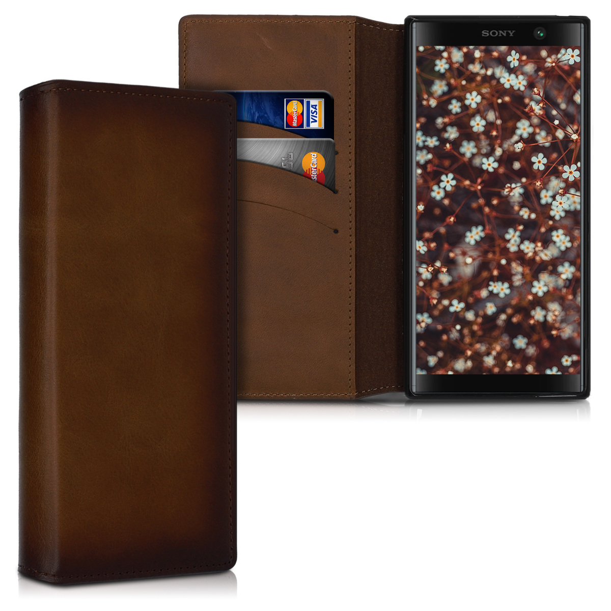 Kožené pouzdro | obal pro Sony Xperia XA2 plus - Vintage hnědé