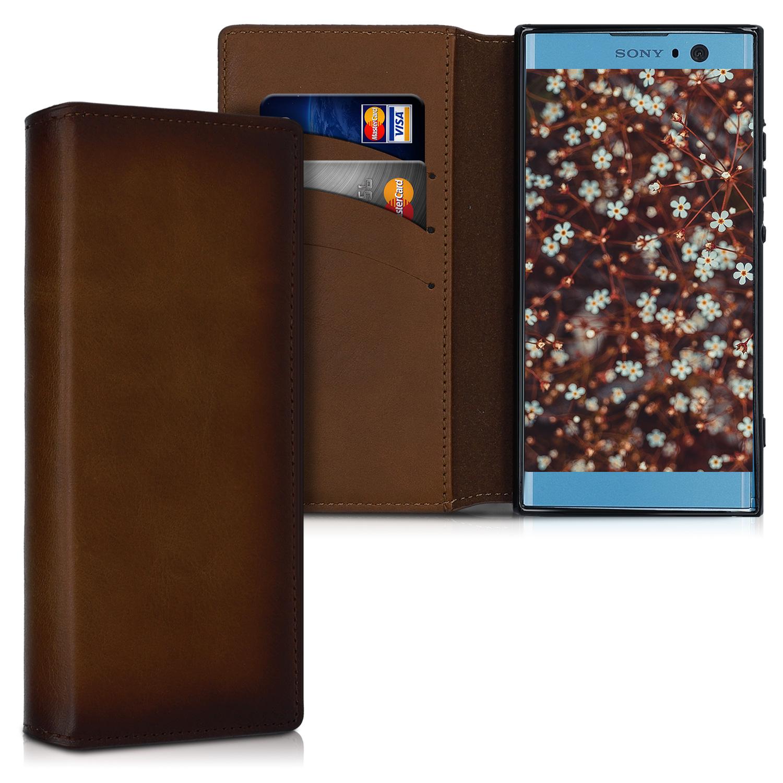 Kožené pouzdro | obal pro Sony Xperia XA2 - Vintage hnědé