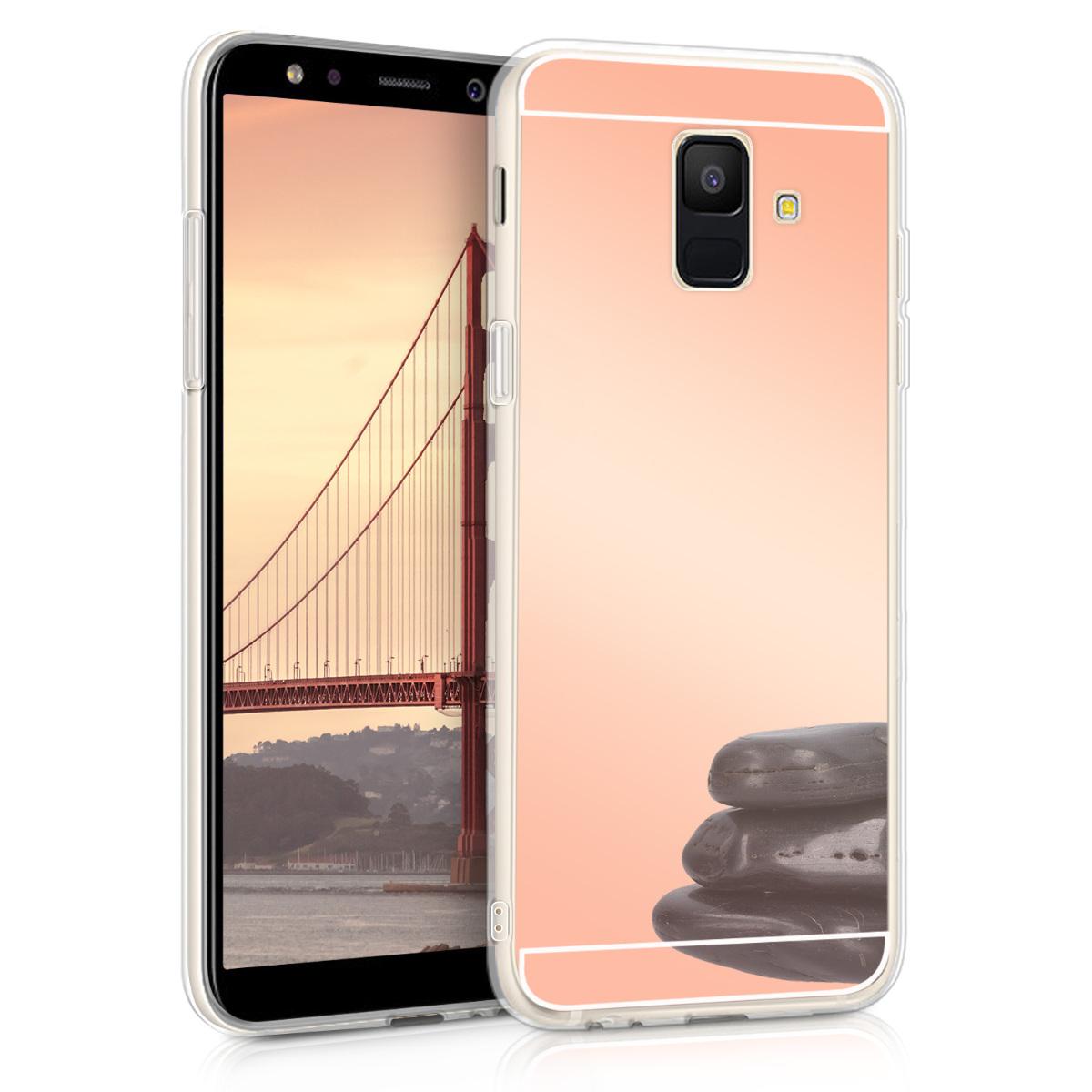 Kvalitní silikonové TPU pouzdro pro Samsung A6 (2018) - starorůžové rosegold Reflective