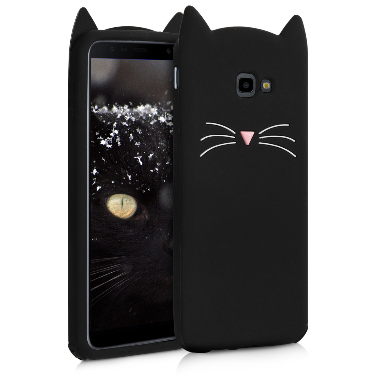 Černé silikonové kočička pouzdro | obal pro Samsung Galaxy J4+ / J4 Plus DUOS