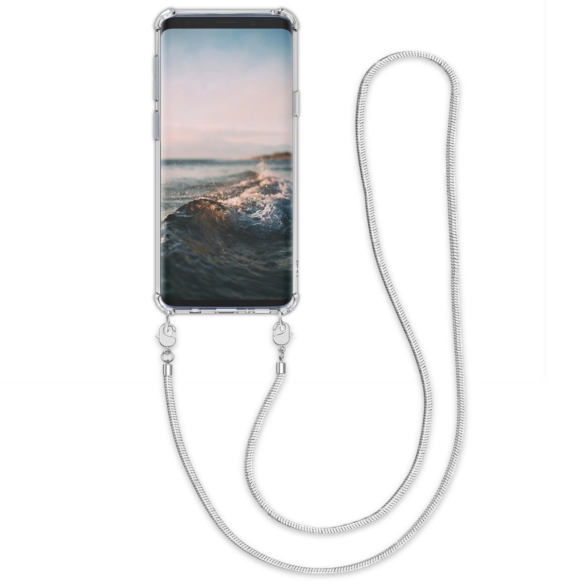 Kvalitní silikonové TPU pouzdro pro Samsung S9 - transparentní / stříbrné