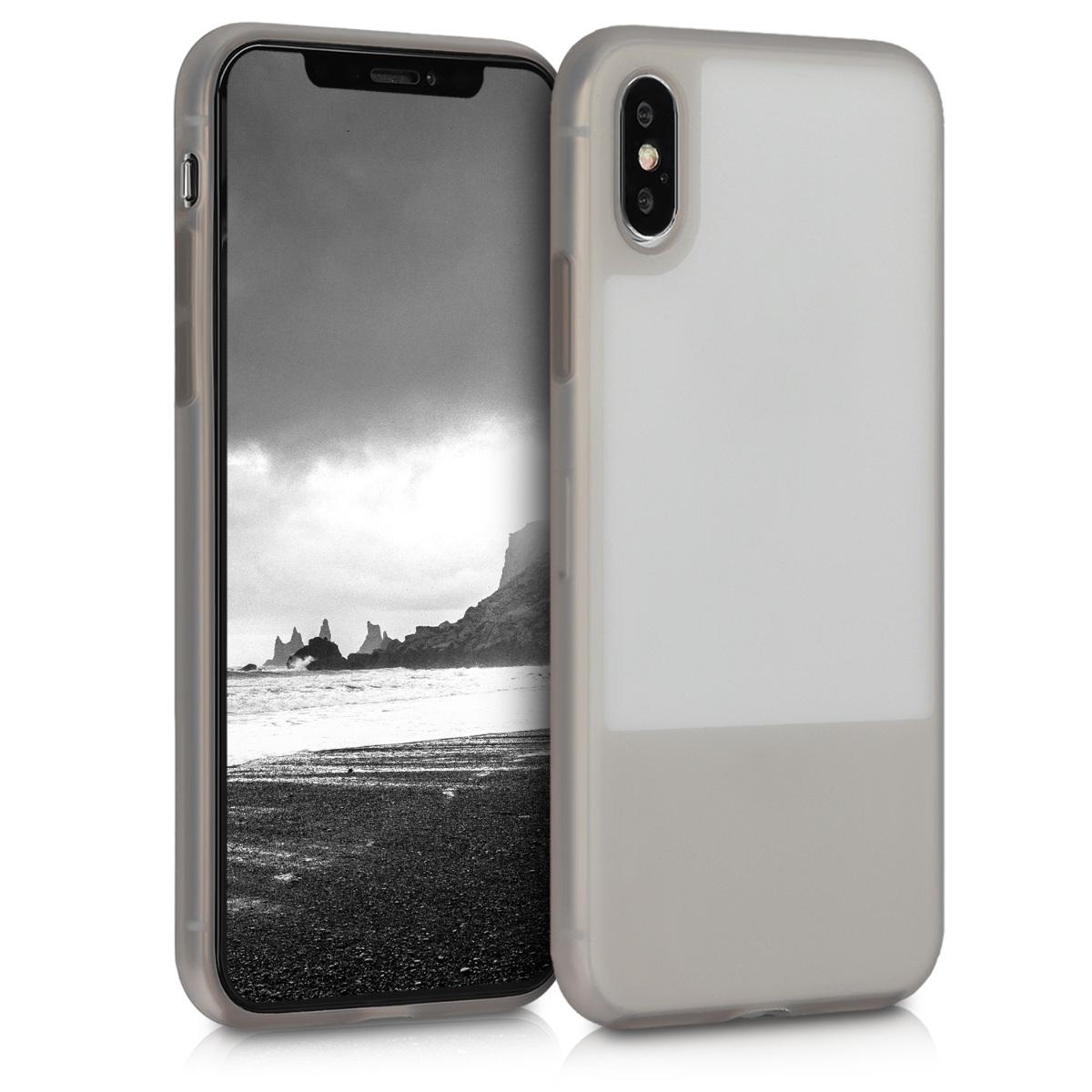 Kvalitní plastové pouzdro pro Apple iPhone X / XS - Světle šedá Matte | Grey