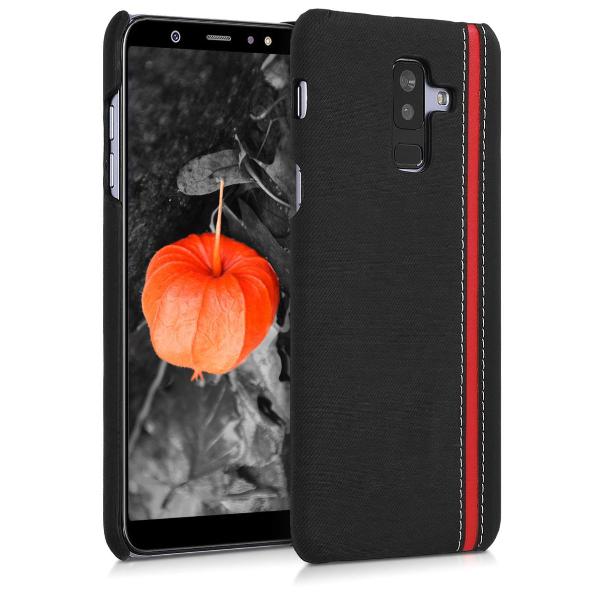 Kvalitní plastové pouzdro pro Samsung A6+|A6 Plus (2018) - černé červená
