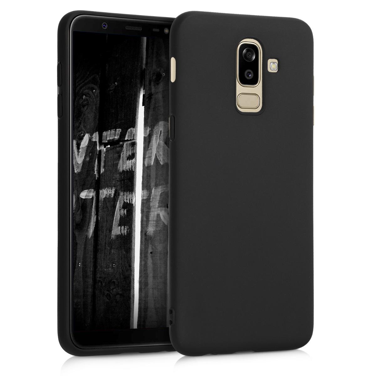 Kvalitní silikonové TPU pouzdro pro Samsung J8   On8 - černé matné