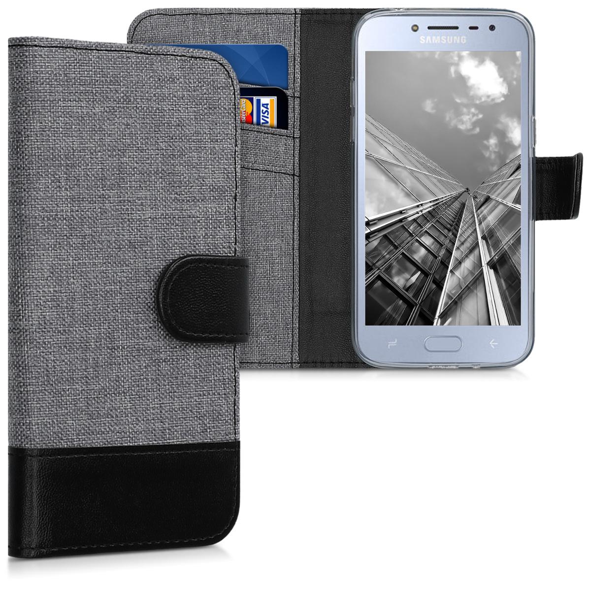 Fabricpouzdro pro Samsung J2 Pro (2018) - šedé / černé