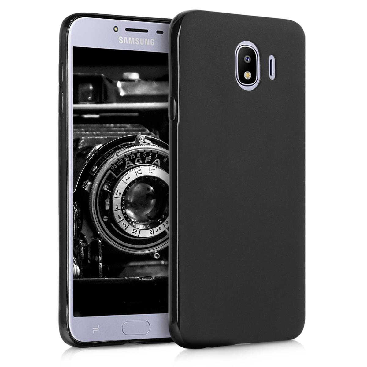 Kvalitní silikonové TPU pouzdro pro Samsung J4 - černé matné