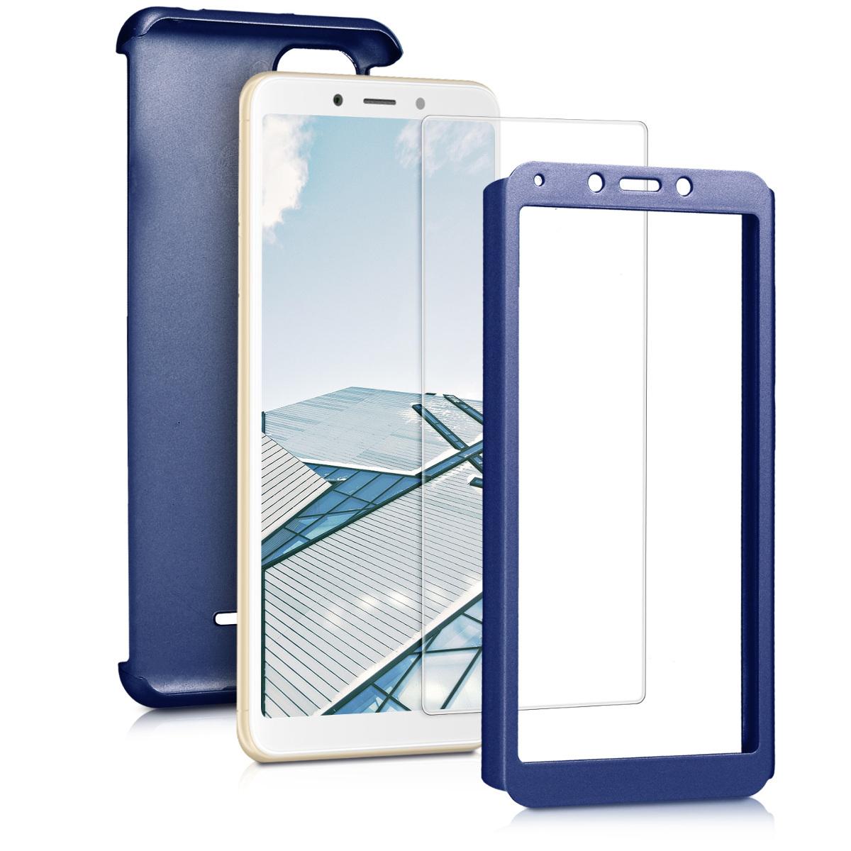 Kvalitní plastové pouzdro | obal pro Xiaomi Redmi 6A - modrý metalíza
