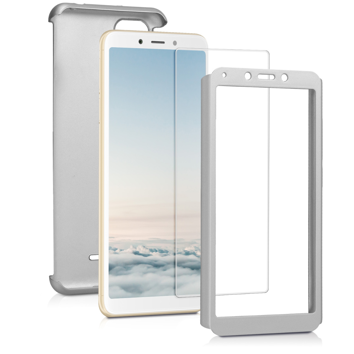 Kvalitní plastové pouzdro | obal pro Xiaomi Redmi 6A - metalické stříbrný