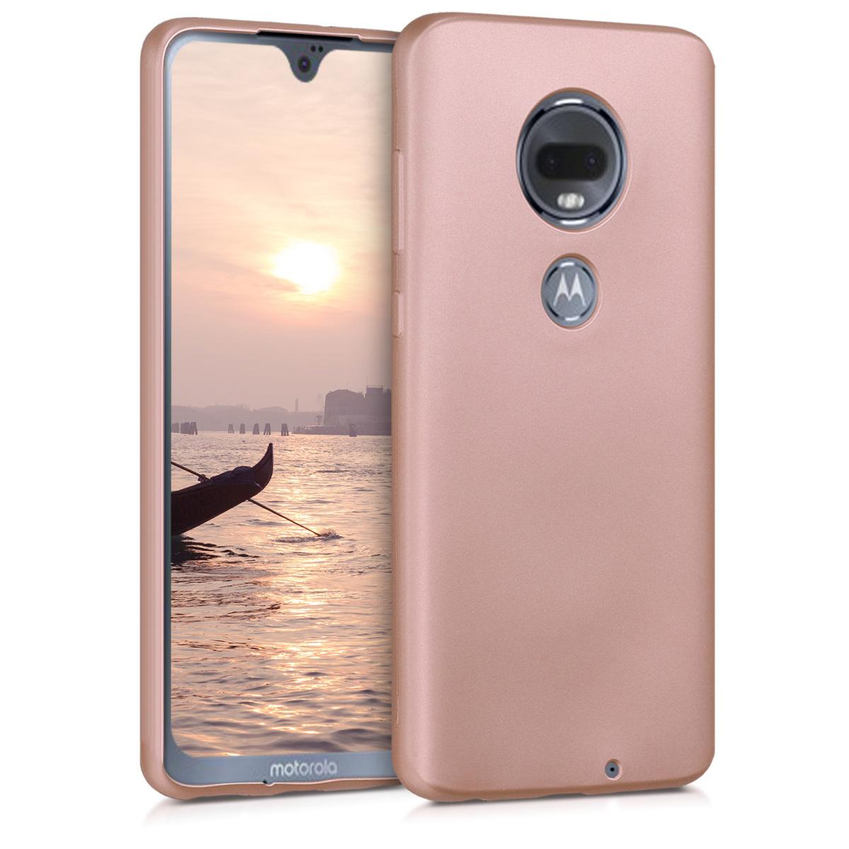 Kvalitní silikonové TPU pouzdro | obal pro Motorola Moto G7 / Moto G7 Plus - Růžově zlatá metalíza