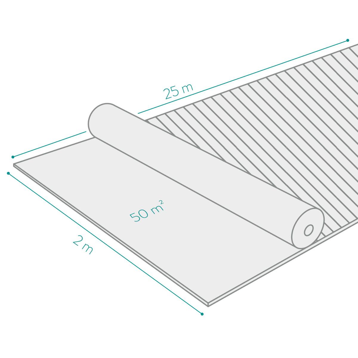 Unkrautvlies Folie 50m² wasserdurchlässig UV-stabil 100g ...