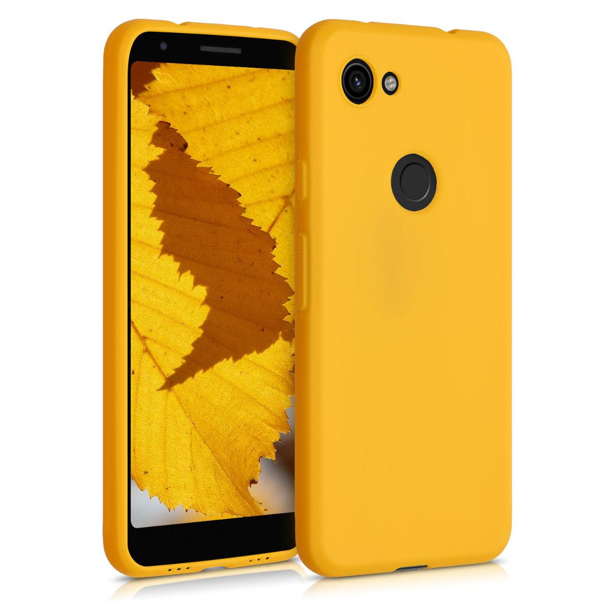 Kvalitní silikonové TPU pouzdro | obal pro Google Pixel 3a - Medově žlutá