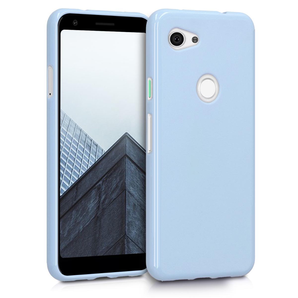 Kvalitní silikonové TPU pouzdro | obal pro Google Pixel 3a - Světle modrá matná