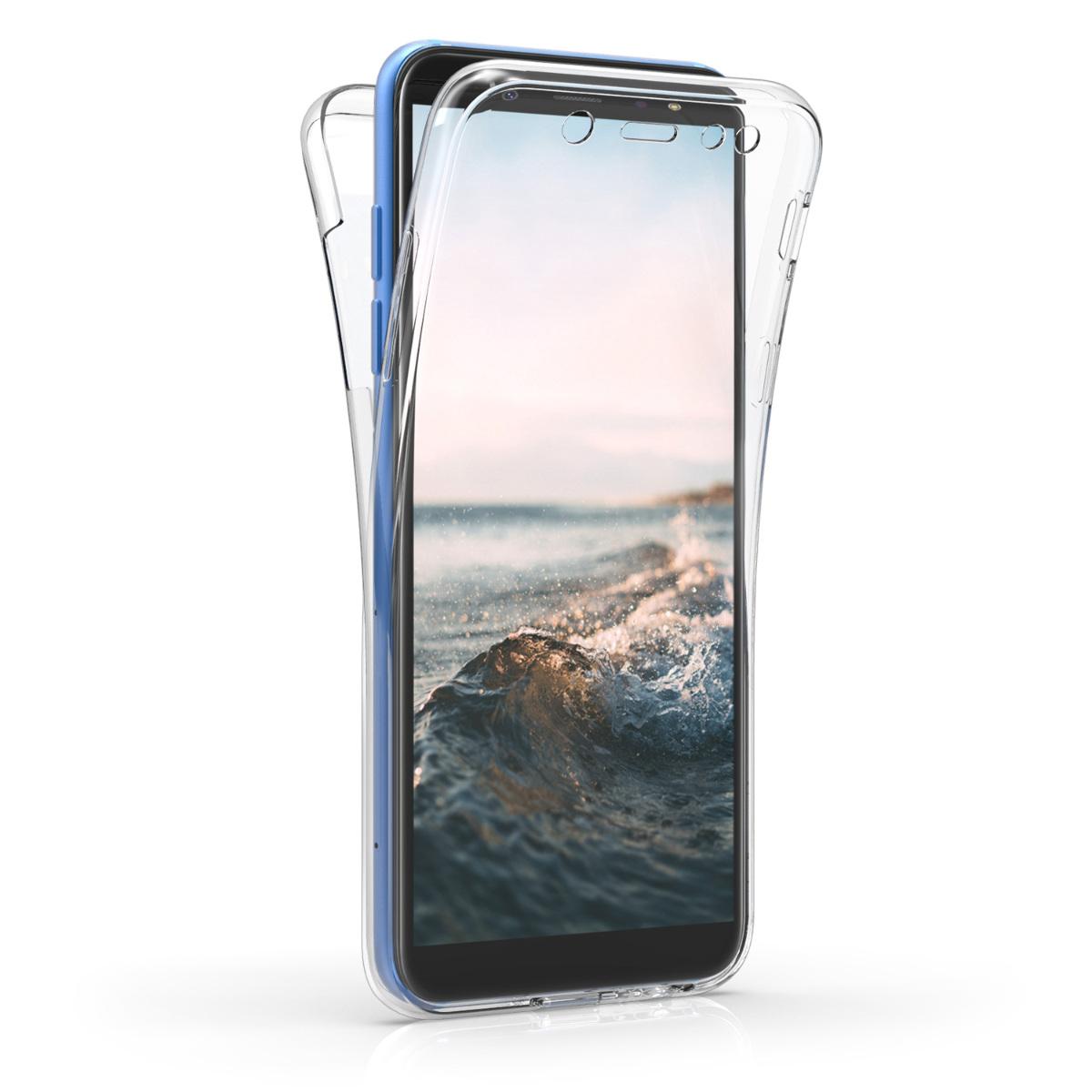 Kvalitní silikonové TPU pouzdro pro Samsung A6 (2018) - Žít, smích, láska bílé / transparentní