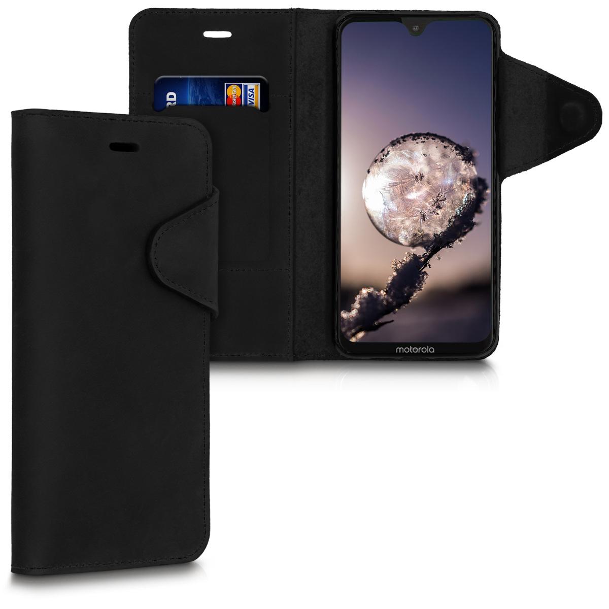 Kožené pouzdro | obal pro Motorola Moto G7 / Moto G7 Plus - Černá
