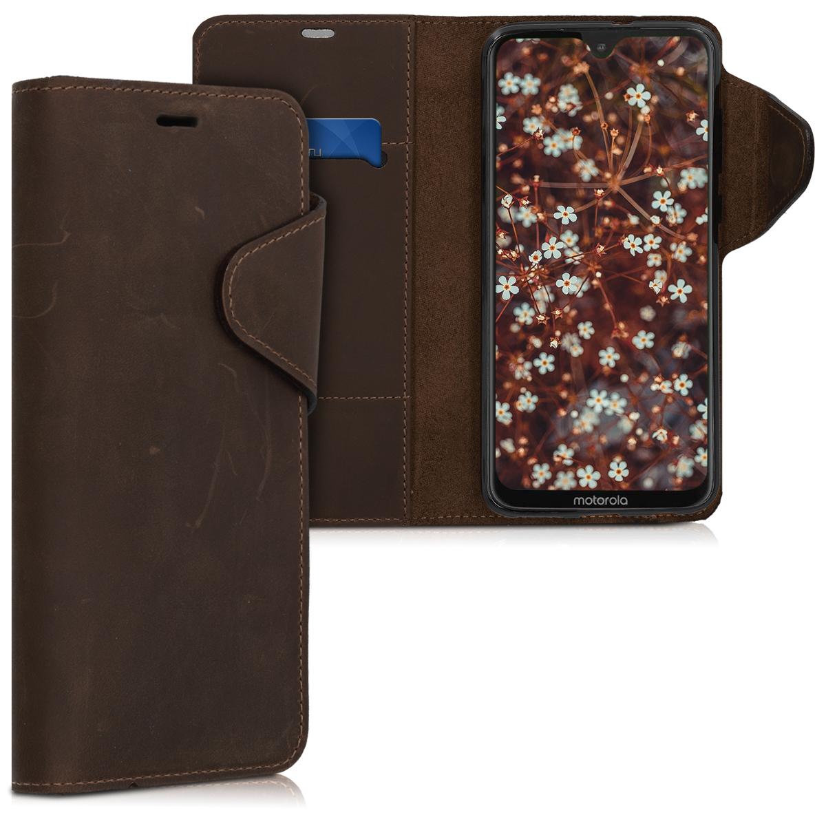 Kožené pouzdro | obal pro Motorola Moto G7 / Moto G7 Plus - Hnědá