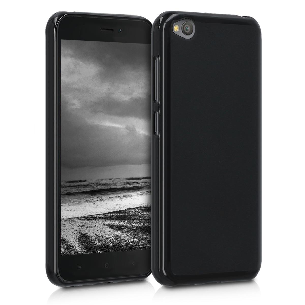 Kvalitní silikonové TPU pouzdro | obal pro Xiaomi Redmi Go - černý matný
