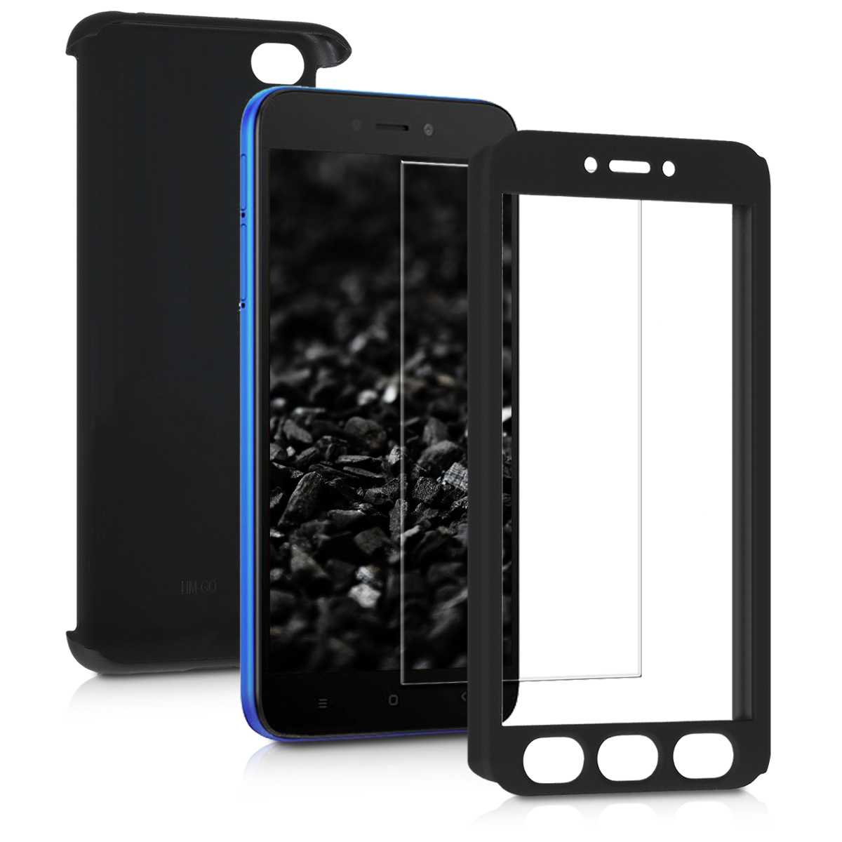 Kvalitní plastové pouzdro | obal pro Xiaomi Redmi Go - metalické černý