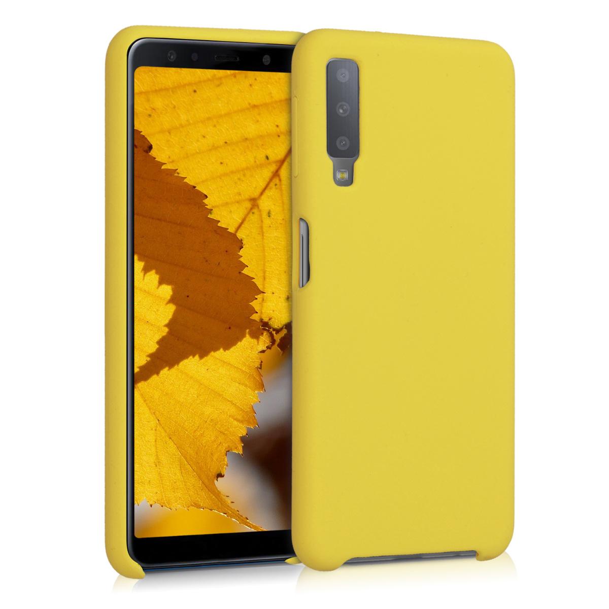 Kvalitní silikonové TPU pouzdro pro Samsung A7 (2018) - Vibrant žluté