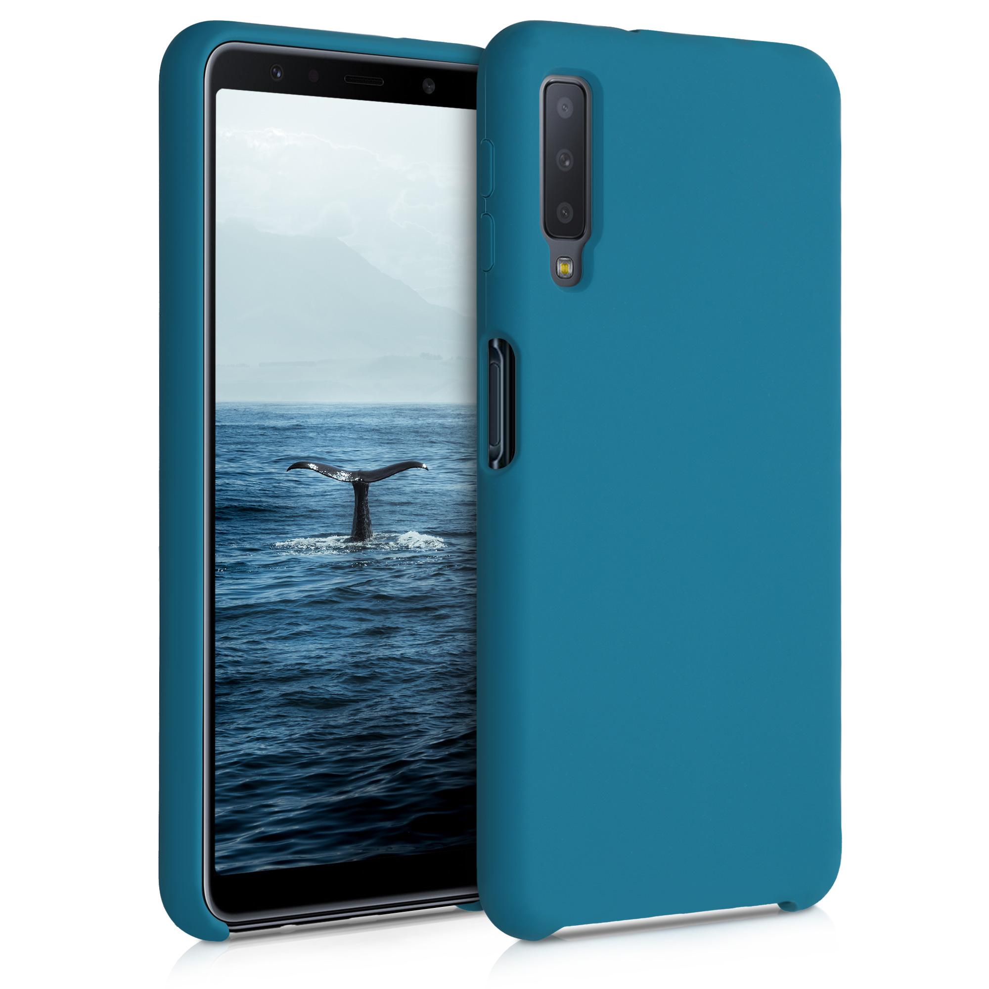 Kvalitní silikonové TPU pouzdro pro Samsung A7 (2018) - Teal matné