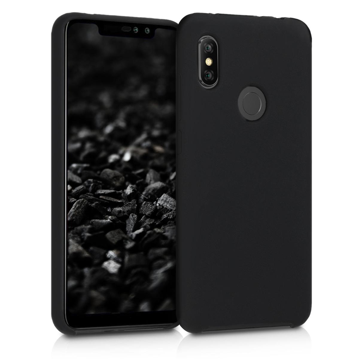 Kvalitní silikonové TPU pouzdro | obal pro Xiaomi Redmi Note 6 Pro - černý matný