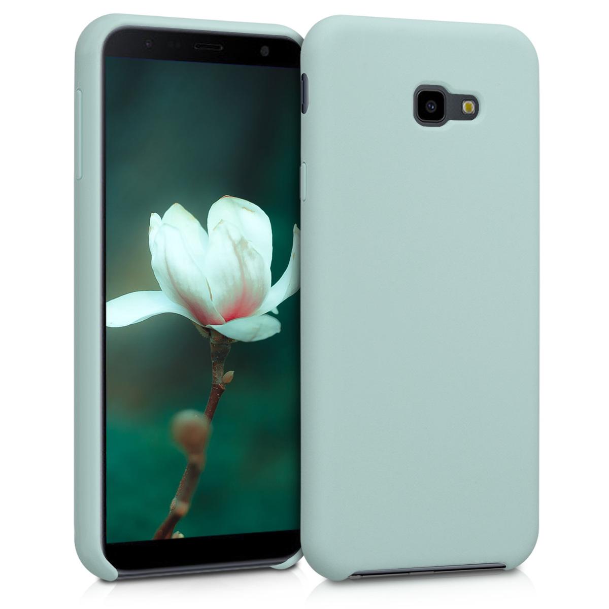 Kvalitní silikonové TPU pouzdro pro Samsung J4+ | J4 Plus DUOS - mint zelené matné
