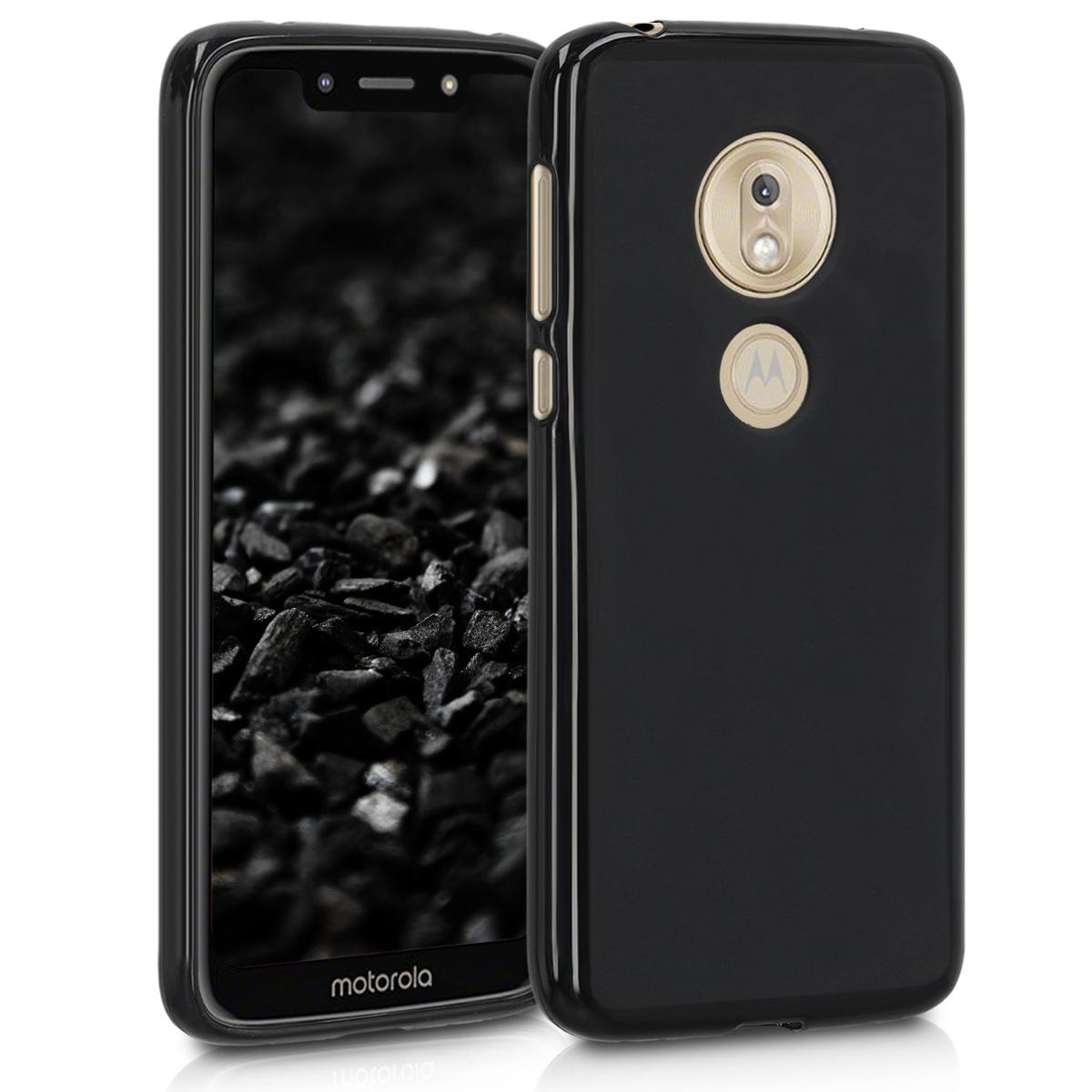 Kvalitní silikonové TPU pouzdro   obal pro Motorola Moto G7 Play (EU-Version) - Černá matná