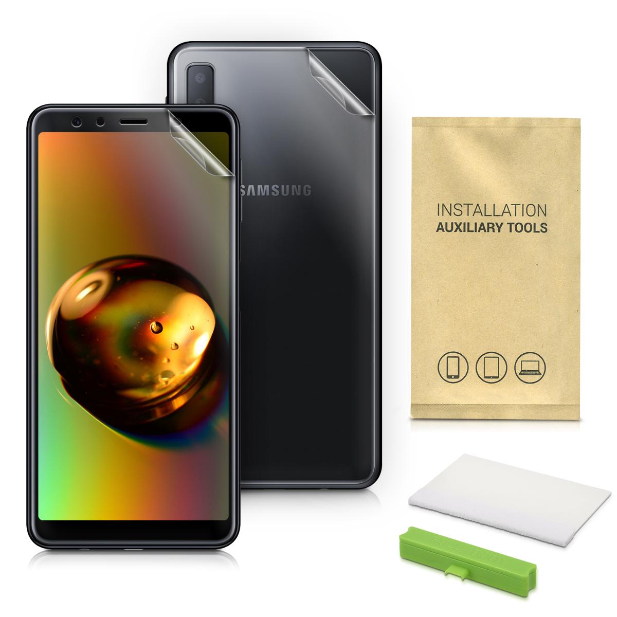 Oboustranná ochranná fólie na Samsung Galaxy A7 (2018)