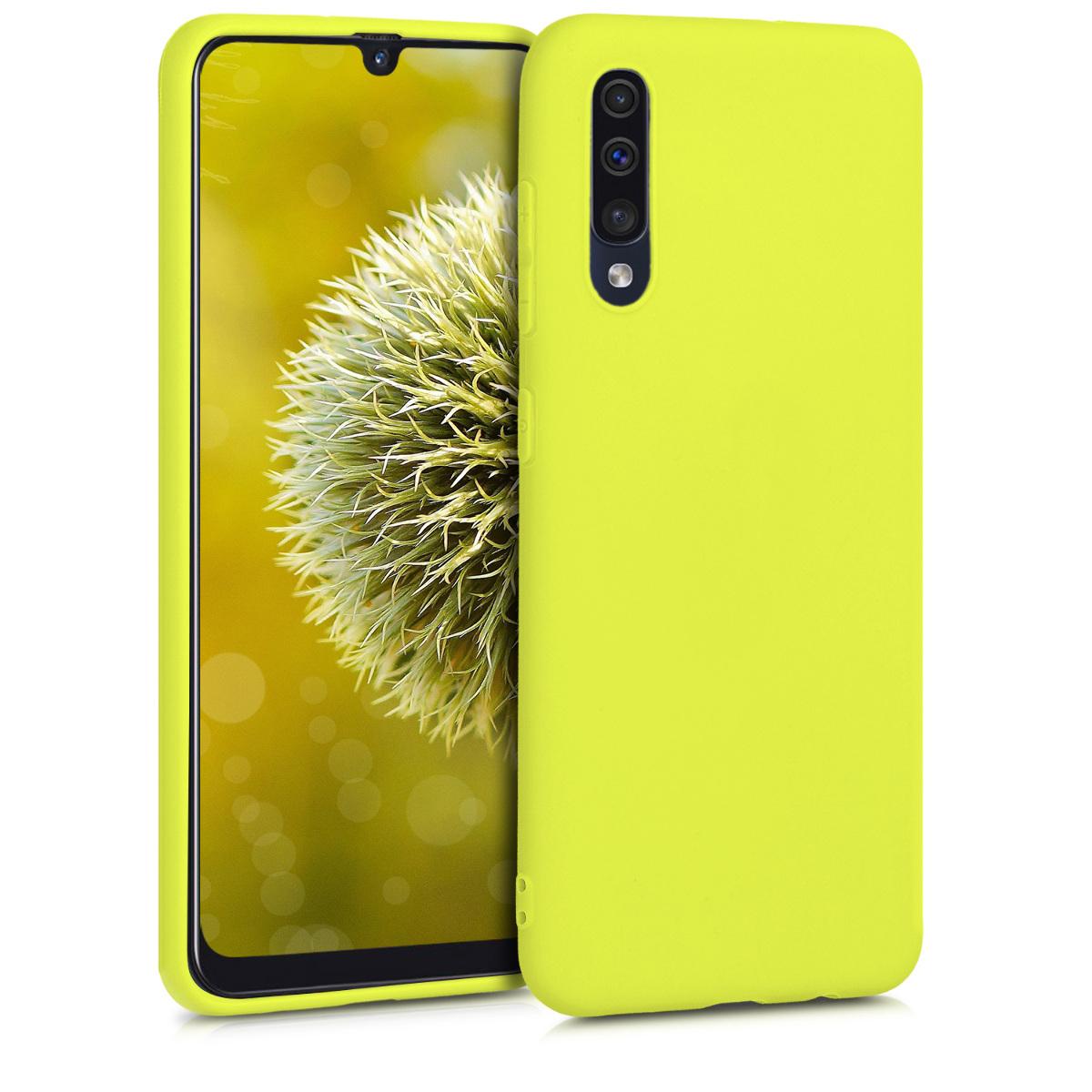 Kvalitní silikonové TPU pouzdro pro Samsung A50 - Lemon žluté