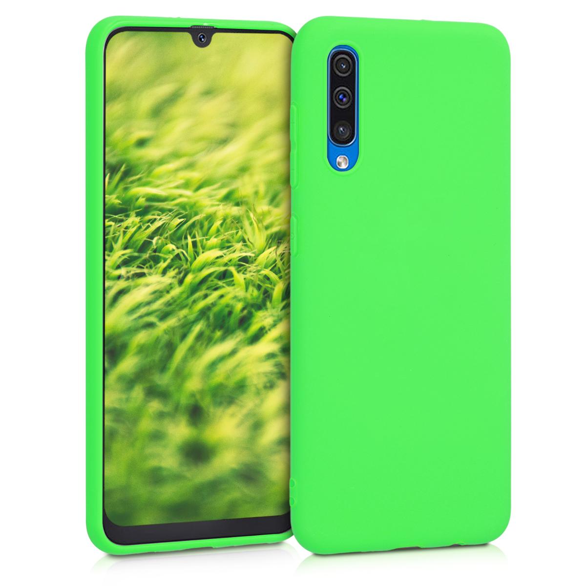 Kvalitní silikonové TPU pouzdro pro Samsung A50 - Limetkově zelená
