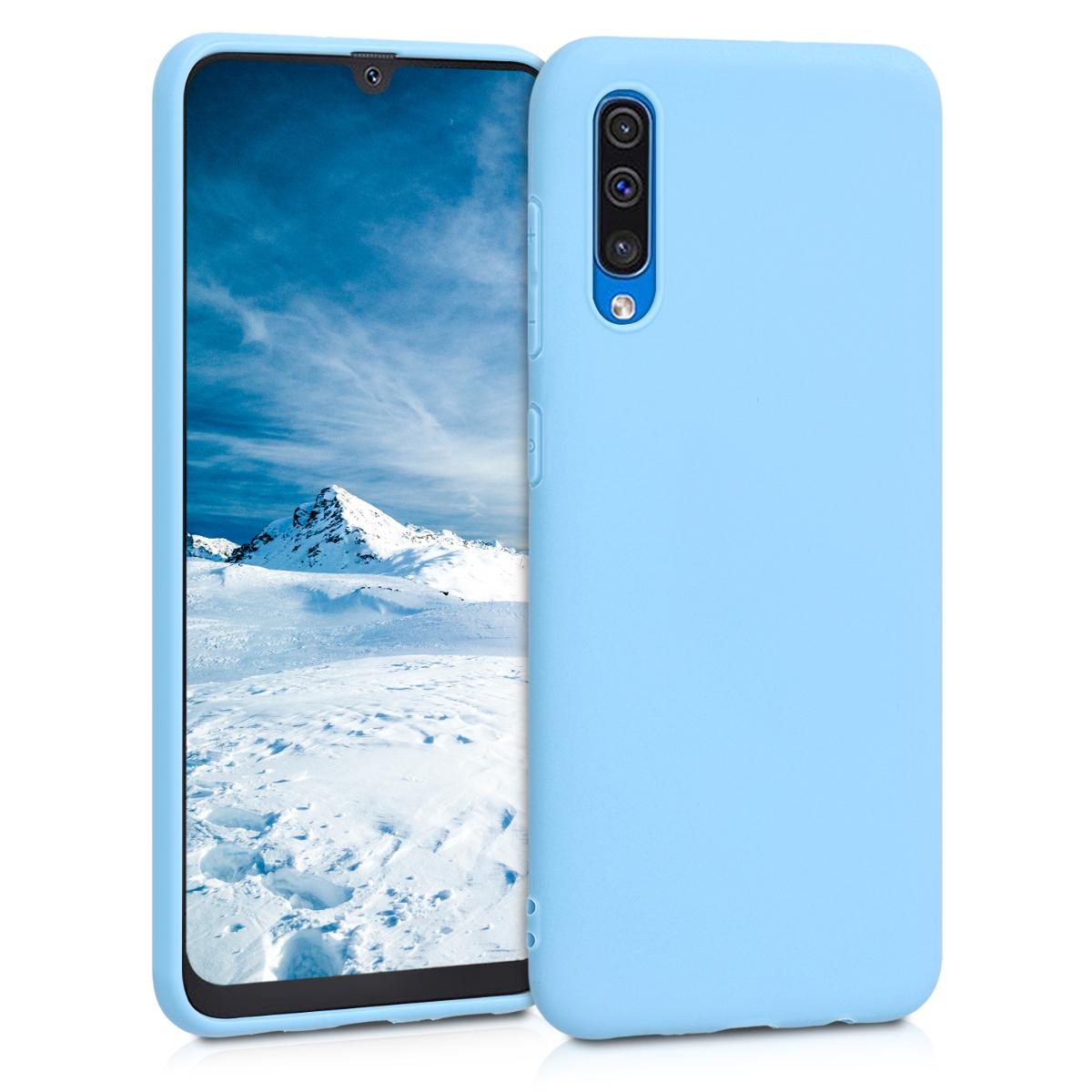 Kvalitní silikonové TPU pouzdro pro Samsung A50 - Dove modré