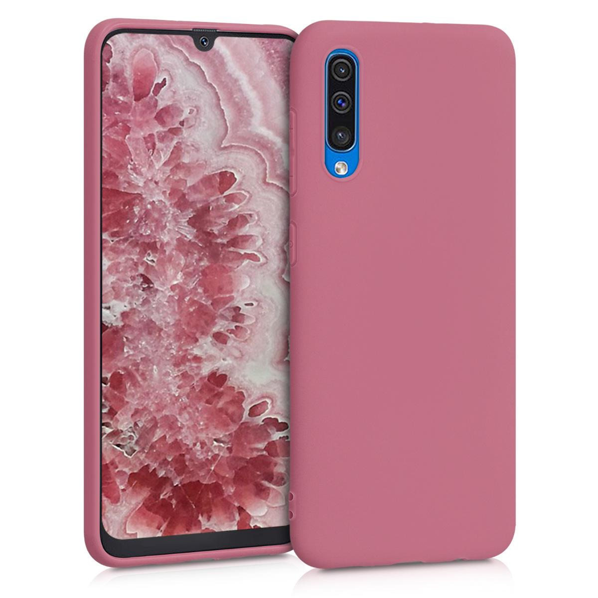 Kvalitní silikonové TPU pouzdro pro Samsung A50 - Hluboké Rusty Rose