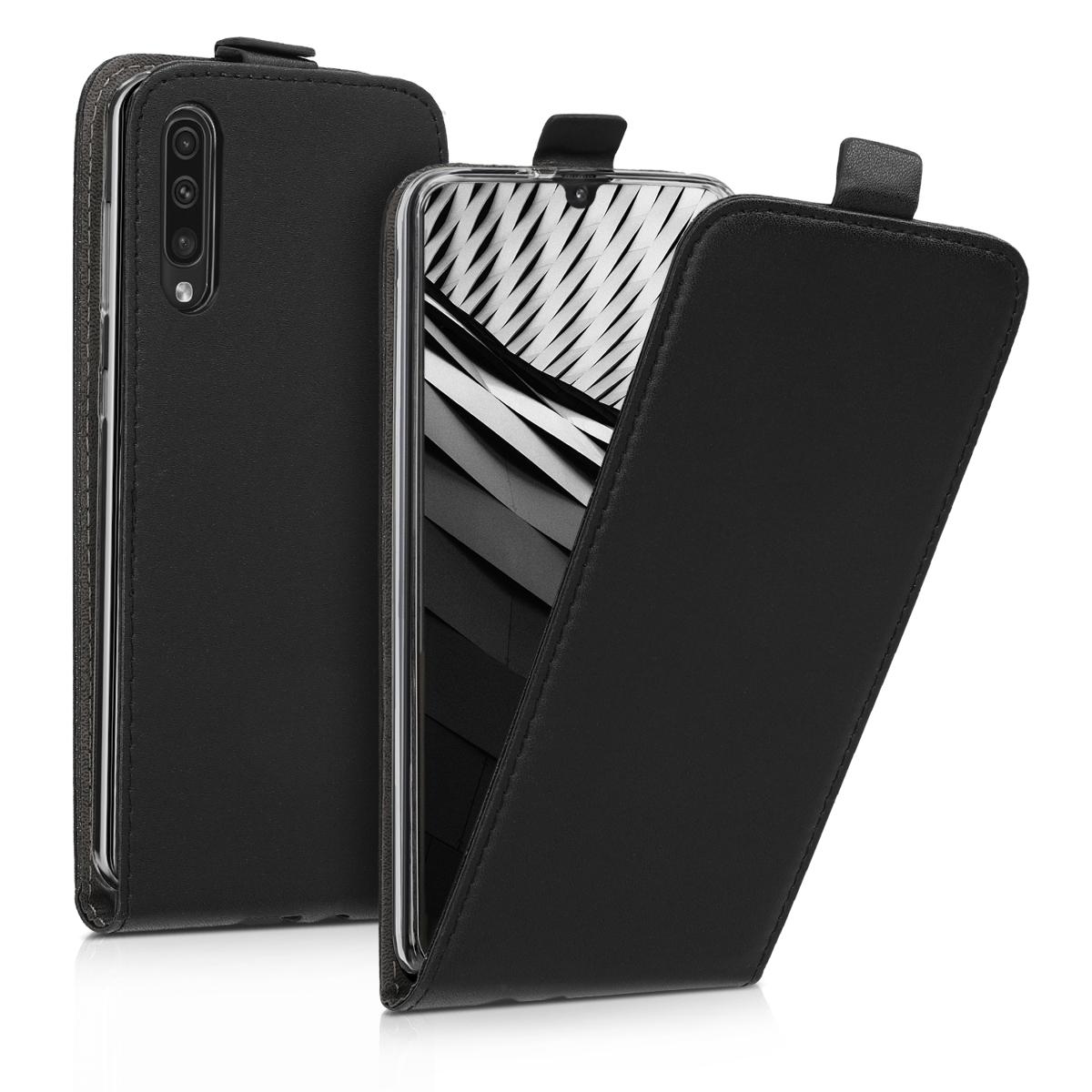 Kožené pouzdro pro Samsung A50 - černé